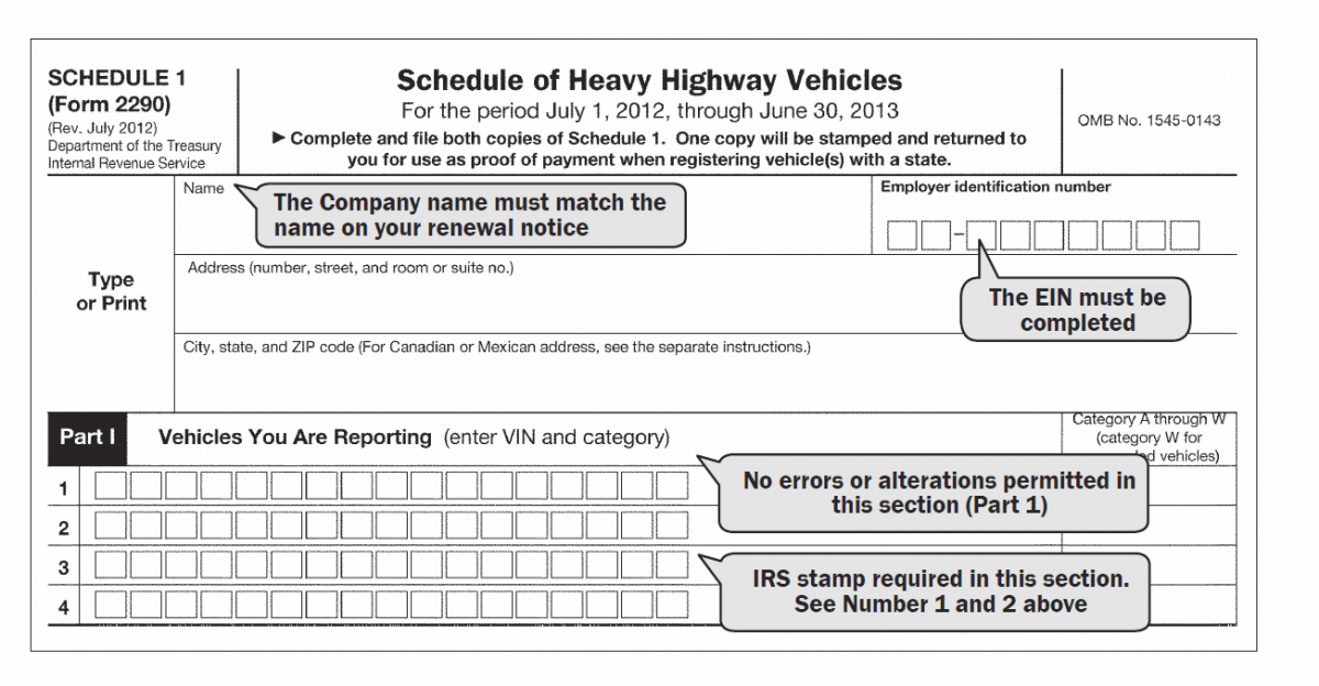 Heavy Vehicle Use Tax and Form 2290 : DrivePFS
