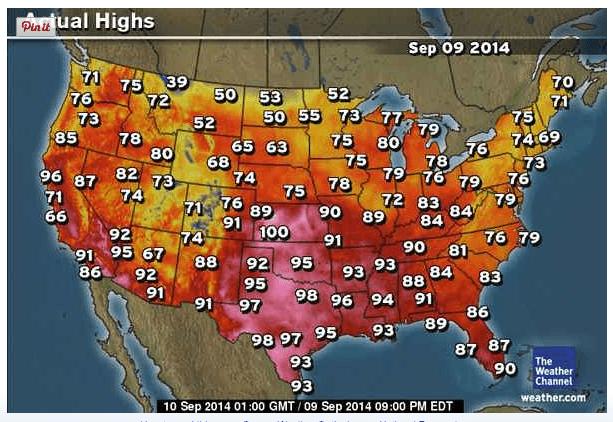 Hot weather still prevelant