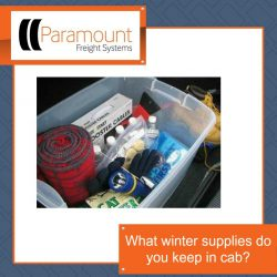 What winter supplies do you keep in cab?